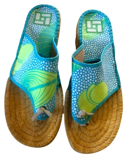 Cousu Main Light Blue/Multi Sandals