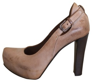 Henry Beguelin Leather Brown Pumps