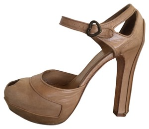 Alexander McQueen Leather Brown Pumps