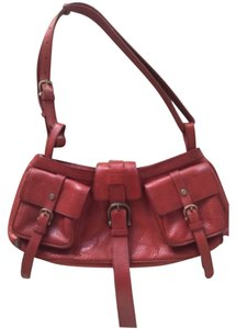 Purse Dark Red Leather Shoulder Bag