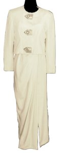 Akira Gown Jacket Blazer Ivory Strapless Dress