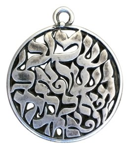 Made in Israel Israeli Sterling Silver Necklace Pendant