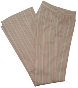 Victoria's Secret Body By Victoria Christie Fit Straight Pants PINK AND CREAM STRIPE
