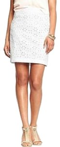 Old Navy Eyelet Cotton Skirt Bright White