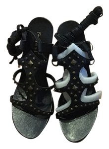 On Your Feet Sexy Studded Playful Leather Black with studs Sandals