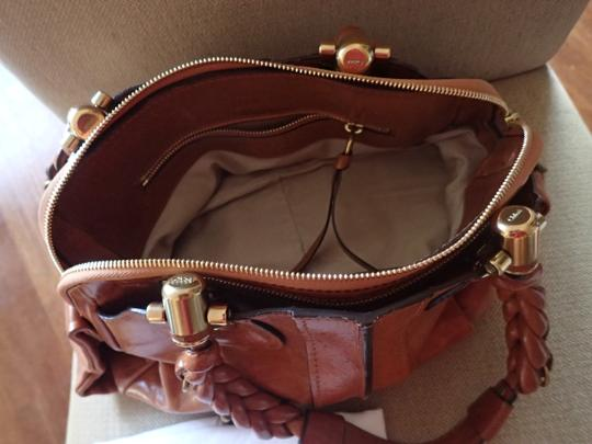 Chloé Heloise Brown Shoulder Satchel in Nutmeg