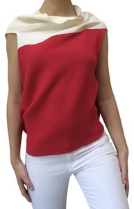 Roland Mouret Vintage Flowy Top Red