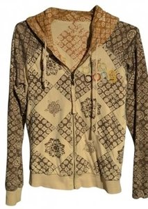 """Billabong 'reversible' Zippered Size L In Color With Splashes Of Euc 20"""" Underarm To Underarm (Laying Flat) Sweatshirt"""