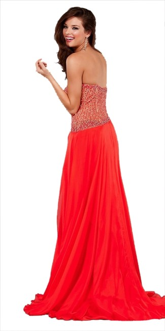 Jovani Long Long Front Slit Pageant Dress