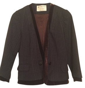 Wyeth by Todd Magill Jacket Velvet Jacket Brown and Grey Blazer