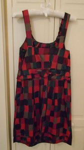 Marc by Marc Jacobs short dress Multi Red Plume Nwt on Tradesy