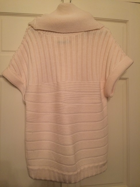 Alice + Olivia Tan Cowl Neck Pom Poms Sweater