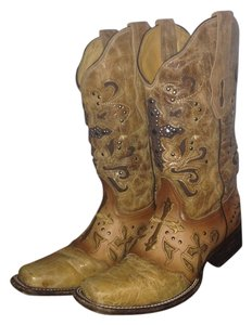 Corral Vintage Cowboy Cowgirl Tan Boots