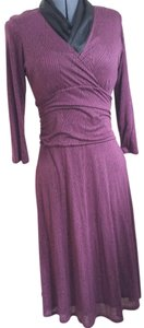 Boden Knit Fitted Purple Dress