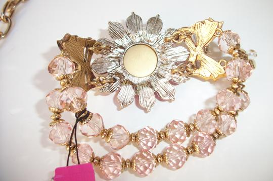 Betsey Johnson Betsey Johnson Floral Leopard Necklace & Bracelet Dripping Rhinestones SET Image 6