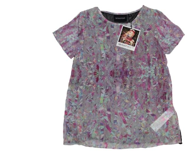 MINKPINK Multi-colored T Shirt Multi Image 0