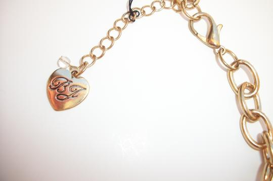 Betsey Johnson Betsey Johnson Leopard Pave Crystals Large Puffy Heart Pendant Long Necklace
