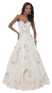 Tony Bowls Gld Ballgown Dress