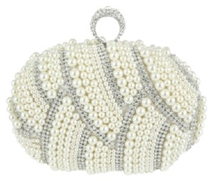 WE DO LUXURY Ivory, Rhodium, Clear Clutch