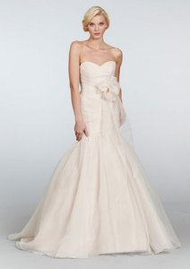 Blush Organza Rosemary Feminine Wedding Dress Size 12 (L)