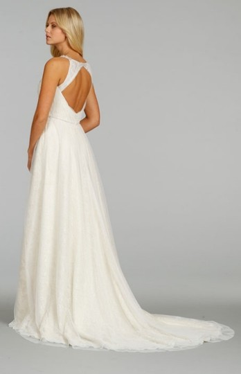 Ti Adora by Alvina Valenta Ivory English Netting Lace and Chiffon 7404 Feminine Dress Size 10 (M)