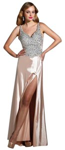 Terani Couture Long Nu Terani P1643 V-neck Dress