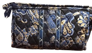 Vera Bradley Vera Bradley Cosmetic Bag in Paisley Print Shades of Blue