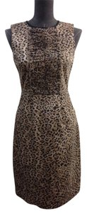 Elie Tahari Leopard Cotton Dress