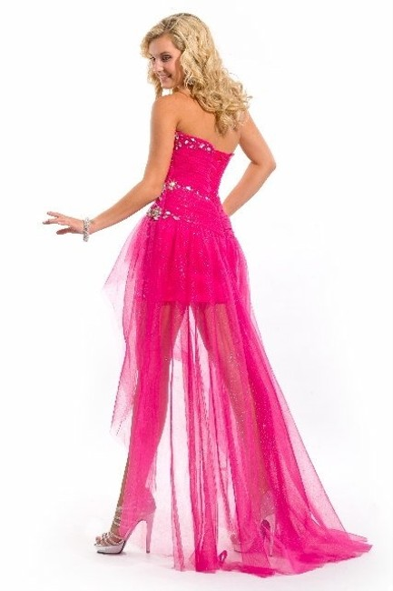 Party Time Formals High-low Train Dress