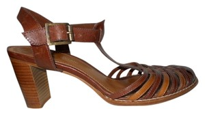 Antonio Melani Leather brown & tan Sandals