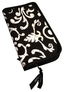Thirty One Black and White Filigree Print Wallet