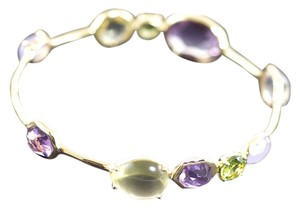 Ippolita IPPOLITA 18K YELLOW GOLD ROCK CANDY LOVE BLOSSOM GELATO MULTI OVAL KISS BANGLE