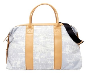 L.A.M.B. Grey/White Crackle Travel Bag