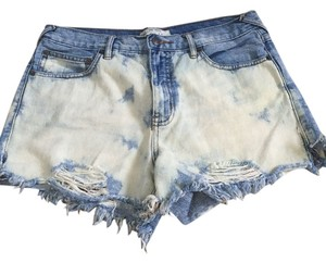 Free People Cut Off Shorts white washed