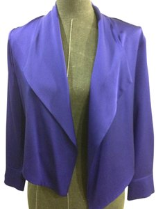 Elie Tahari Silk Jacket Purple Blazer