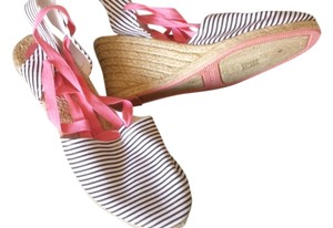 Gap Espadrille Colorful Playful Sexy Comfortable black/white/pink Wedges