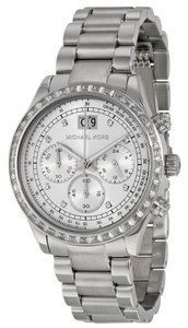 Michael Kors Crystal Pave Silver tone Luxury Casual Dress Designer Watch