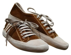 Emma Hope Sneakers Velvet Chic Casual Velvet Tennis Tennis Rusty Gold Brown Flats