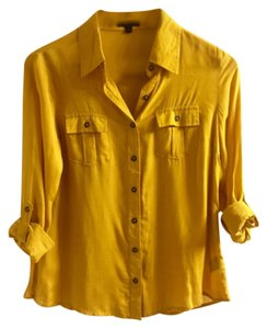 Only Mine Button Down Shirt Yellow