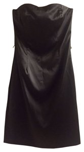 White House | Black Market Lbd Strapless Satin Formal Dress
