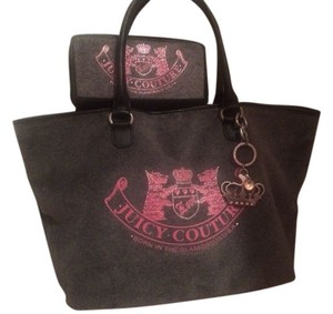 Juicy Couture Tote in Grey And Pink