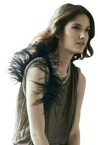 Robert Rodriguez Top Feather and Black Lace