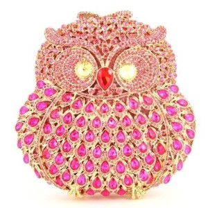 Sparkling Owl Evening Bag