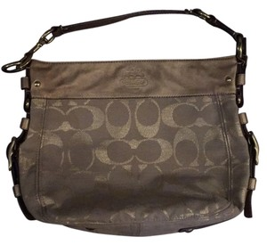 Coach Metallic Canvas Hobo Bag