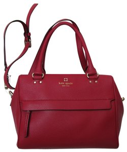 Kate Spade Satchel in Pillboxred/ Dark Red
