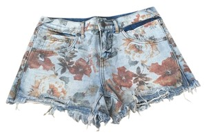 Free People Cut Off Shorts floral