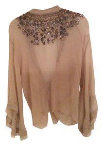 Urban Outfitters Top Beige w beads