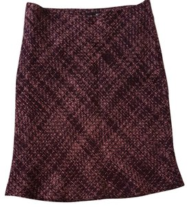 H&M Fish Tail Sexy Plum Tweed Flare Skirt Multi