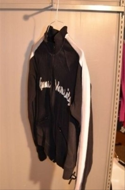 Guess Zippered Jacket Stretchy Fabric; 95% Cotton 5% Spandex Sweatshirt Material Warm! 2 Zippered Pockets In Front Black With Jacket