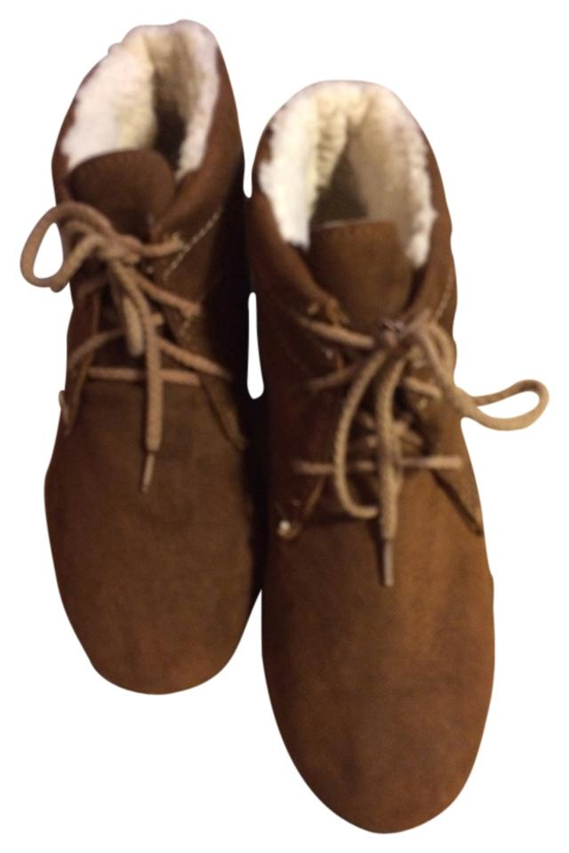 2132af8804c Hush Puppies Ankle Suede Ugg Like Warm Winter Snow Tan Brown Boots Image 0  ...